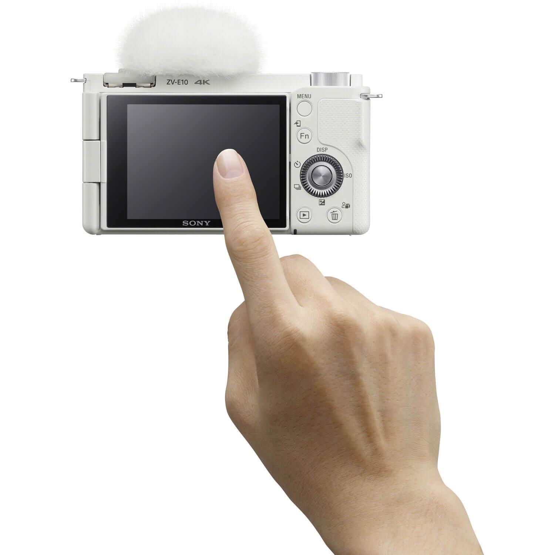 Sony ZV-E10 Mirrorless Camera with 16-50mm Lens white