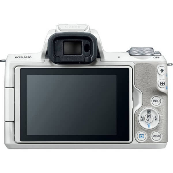 Canon EOS M50 Mirrorless Digital Camera with 15 45mm Lens White 10