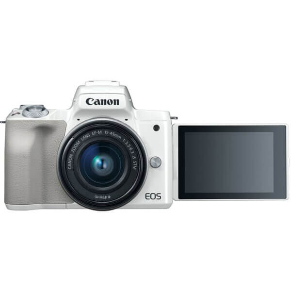 Canon EOS M50 Mirrorless Digital Camera with 15 45mm Lens White 11