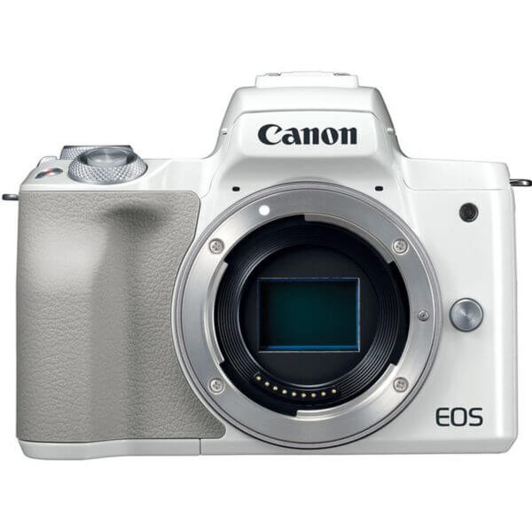 Canon EOS M50 Mirrorless Digital Camera with 15 45mm Lens White 2