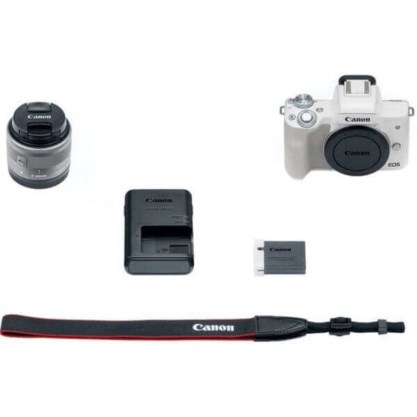 Canon EOS M50 Mirrorless Digital Camera with 15 45mm Lens White 4