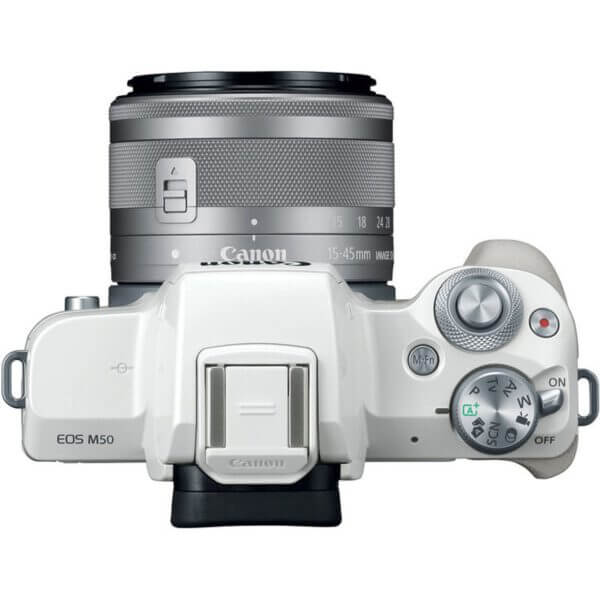 Canon EOS M50 Mirrorless Digital Camera with 15 45mm Lens White 6