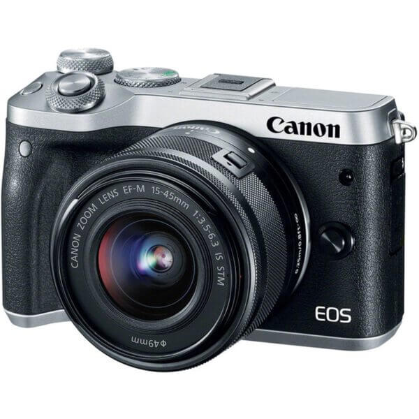 Canon EOS M6 with15 45mm Lens Silver1