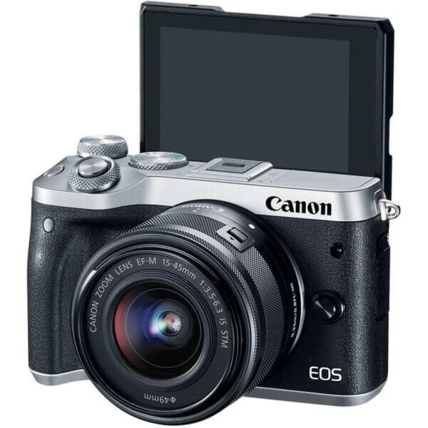 Canon EOS M6 with15 45mm Lens Silver2
