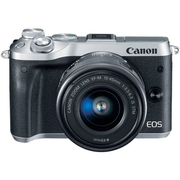 Canon EOS M6 with15 45mm Lens Silver3