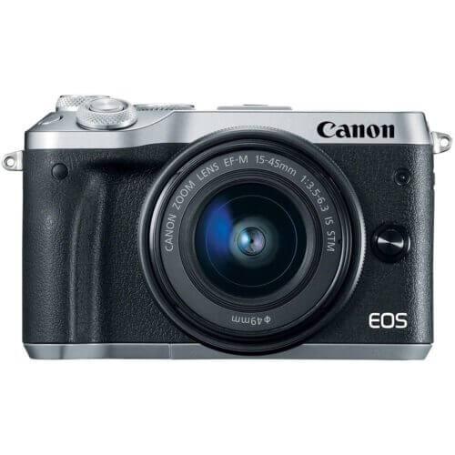 Canon EOS M6 with15 45mm Lens Silver4