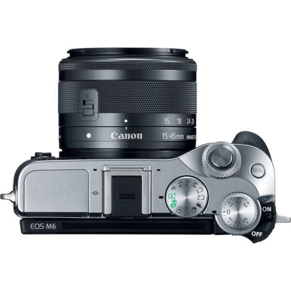 Canon EOS M6 with15 45mm Lens Silver7