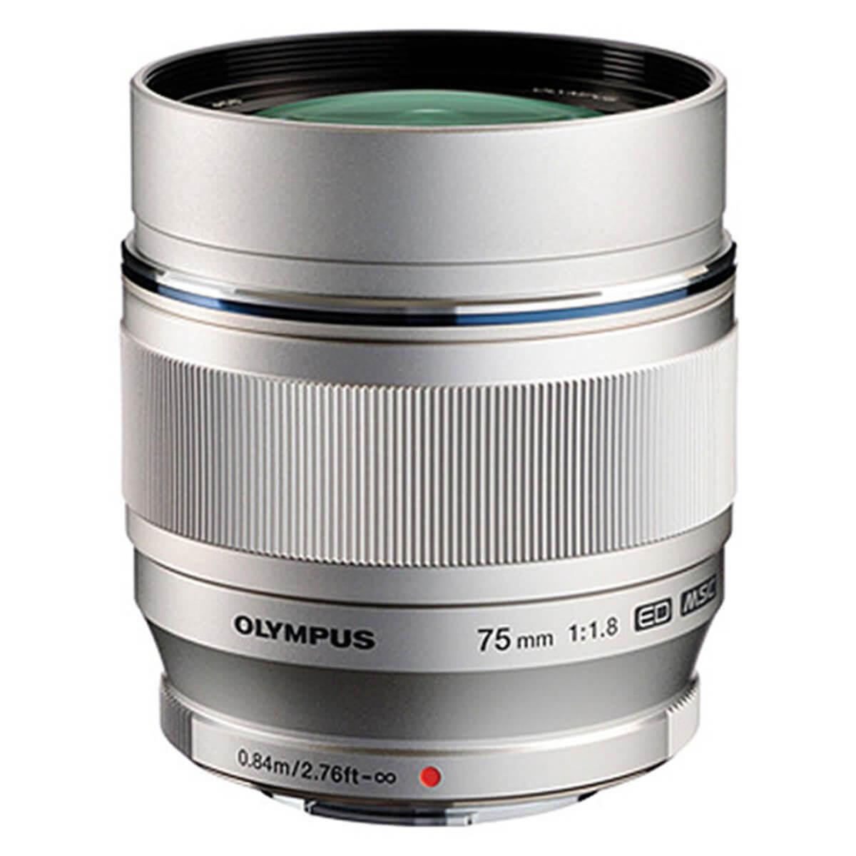 Olympus M.Zuiko 75mm f1.8 Digital ED Silver