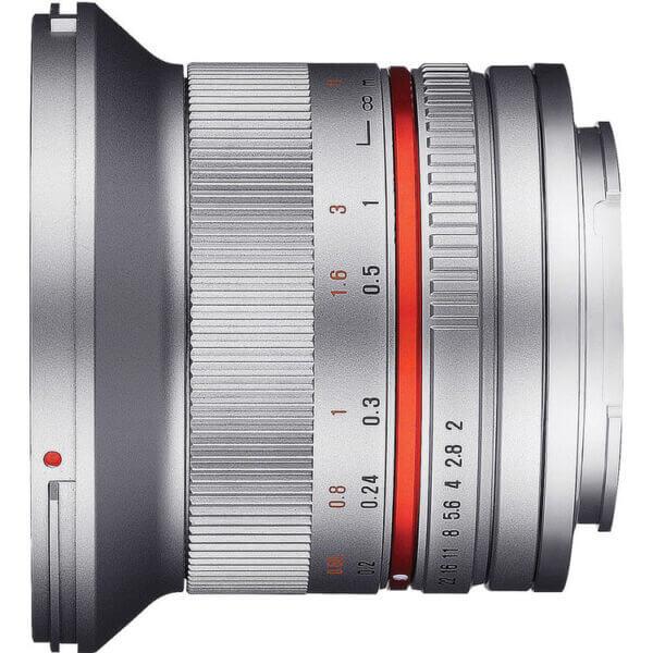 4Samyang 12mm F2 for Fuji X Mount silver