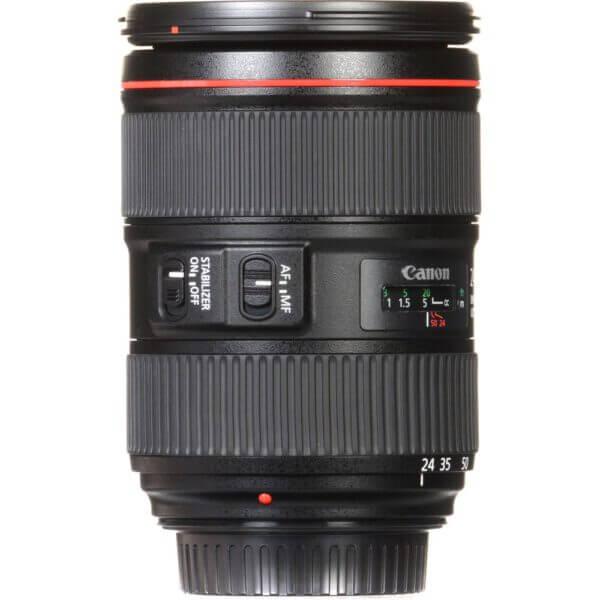 Canon Lens EF 24 105mm F4L IS II USM Kit P 10