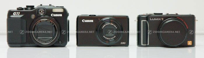 Canon S90 G11 LX3 front