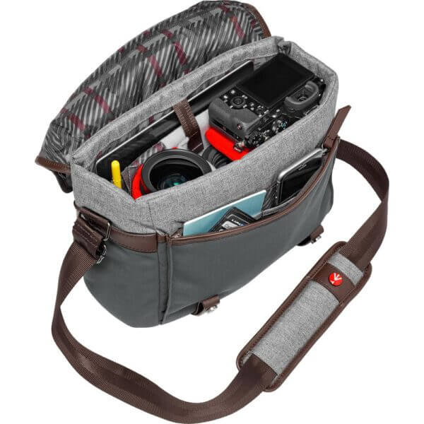 Manfrotto LF WN MS Windsor Messenger Bag S Gray 7