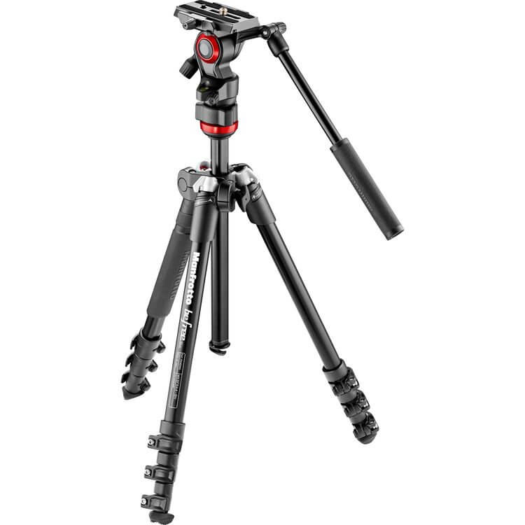 Manfrotto MVKBFR LIF Befree Live Video Tripod Kit with Case 1
