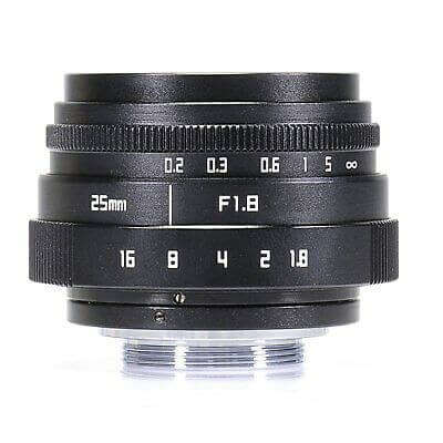 Mini FUJIAN 25mm F18 C Mount CCTV Lens