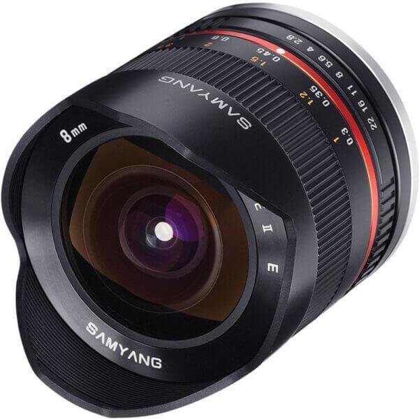 Samyang 8mm f2.8 Fisheye II Lens for Canon EF M Mount 1