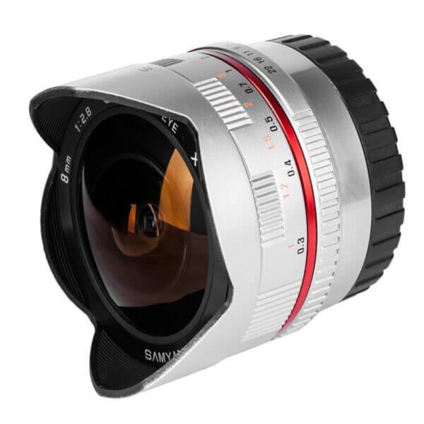 Samyang 8mm f2.8 Fisheye II Lens for Fujifilm X Mount 2 W
