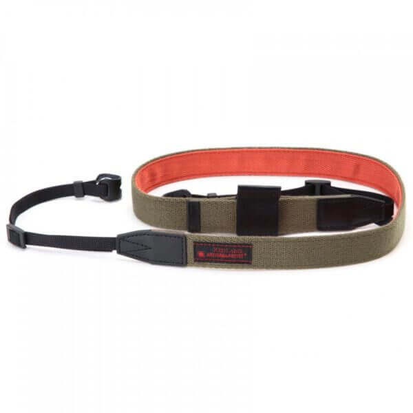 Artisan Artist RDS AC100 Bi color Mirrorless Strap Khaki Orange 2