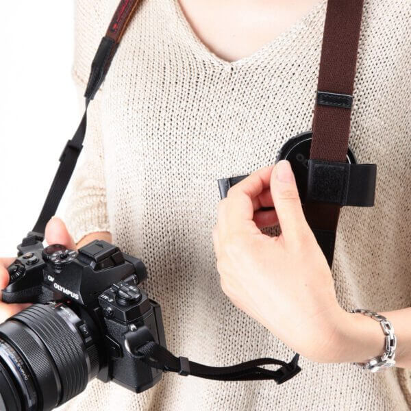 Artisan Artist RDS AC100 Bi color Mirrorless Strap Khaki Orange 3