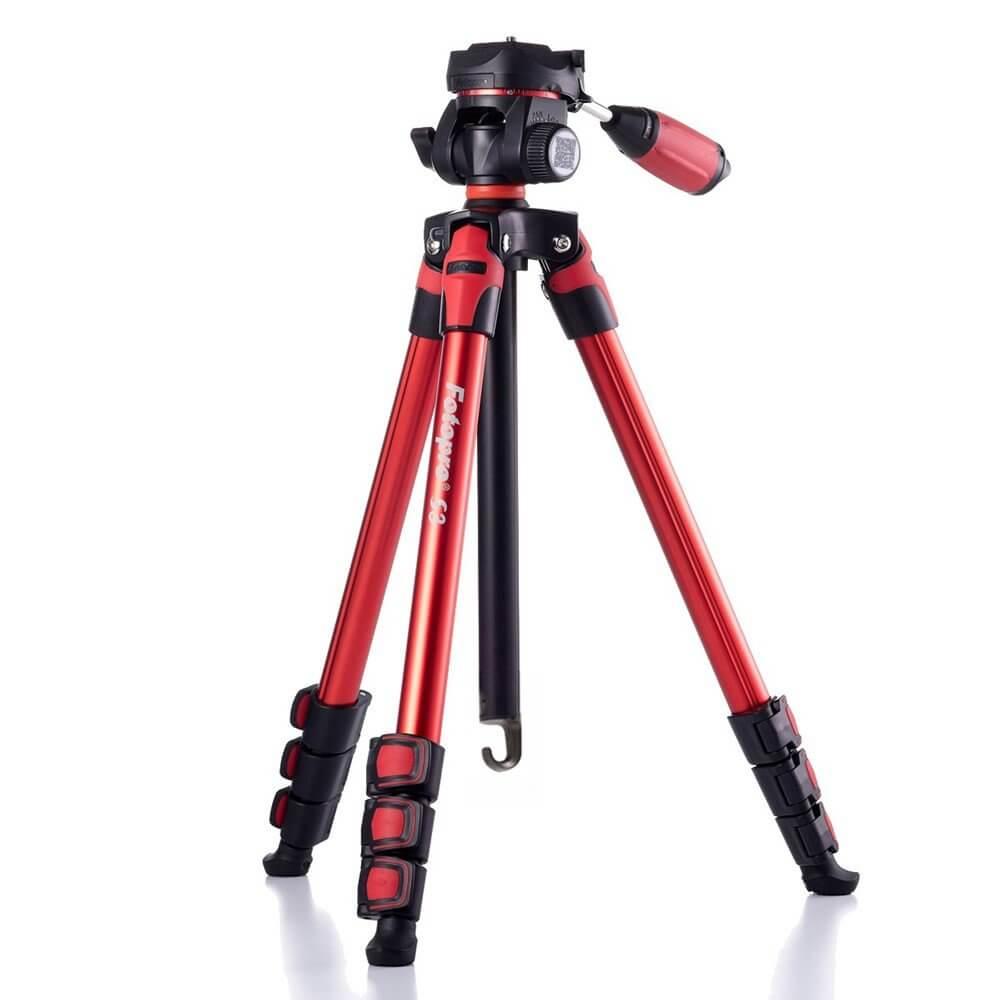 Fotopro FT S3 Tripod Red