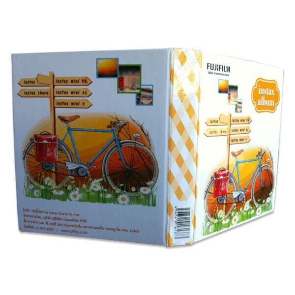 Fujifilm Instax mini film Album Orange Vintage Bicycle 2