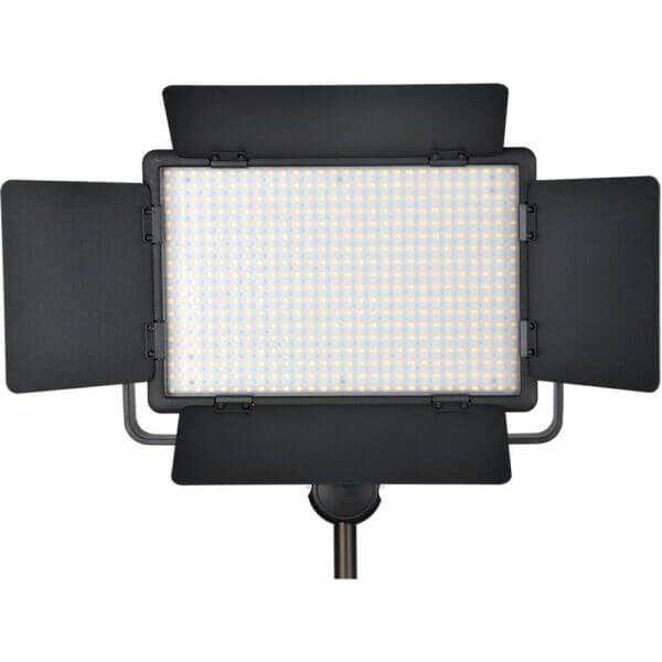 Godox LED500LR C Bi Color LED Light with Barmdoor Remote Controller 2
