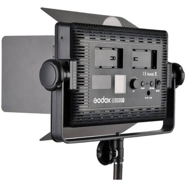 Godox LED500LR C Bi Color LED Light with Barmdoor Remote Controller 3