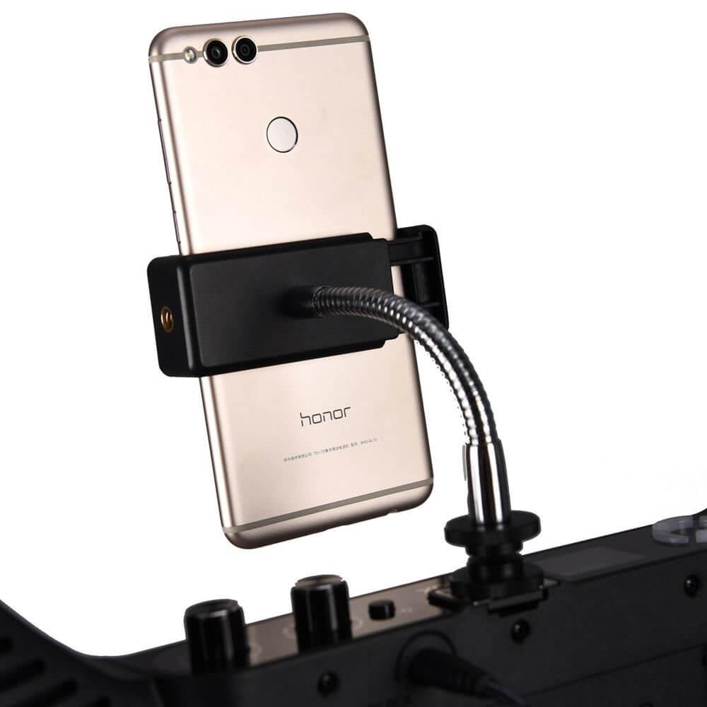 Godox LR160 LED Ring Light with Light Stand ไฟแต่งหน้าพร้อมขาตั้ง 18 inches Black w Mirror Smartphone Holder Adapter 10