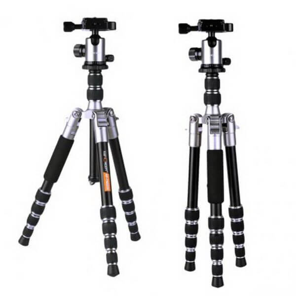 KF KF09014 TM2235 Lightweight Aluminium DSLR Camera Tripod 50 w Ball Head Silver 2