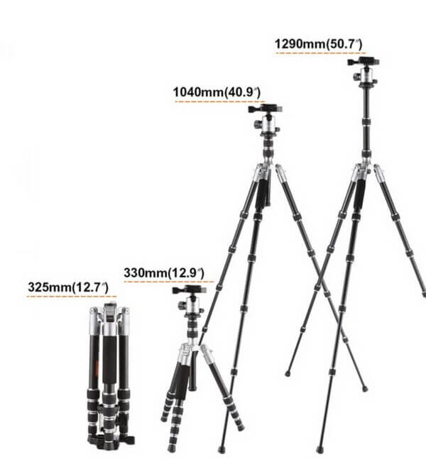 KF KF09014 TM2235 Lightweight Aluminium DSLR Camera Tripod 50 w Ball Head Silver 6