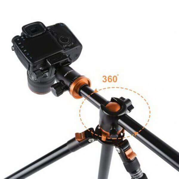 KF KF09030 TM2534T Aluminium TripodMonopod Kit 72 w Ball Head Orange 3