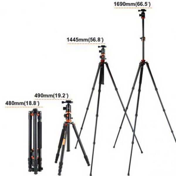 KF KF09030 TM2534T Aluminium TripodMonopod Kit 72 w Ball Head Orange 7