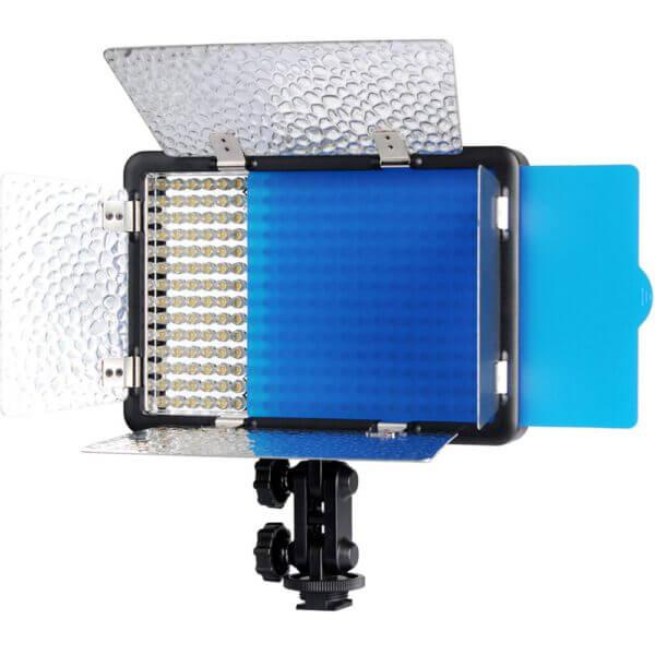 LED Light withGodox LED308C II Bi Color Barndoor Bundled ADP 3A12 Adapter 2