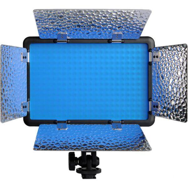 LED Light withGodox LED308C II Bi Color Barndoor Bundled ADP 3A12 Adapter 5