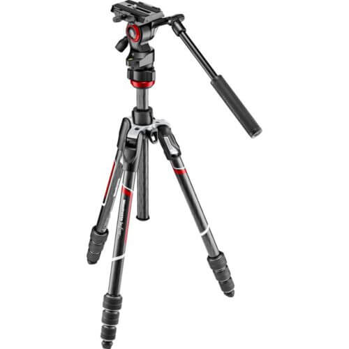 Manfrotto Befree Live Advanced Carbon Tripod with Video Head 1