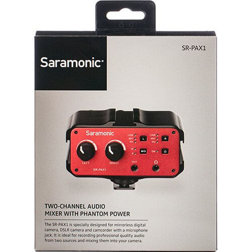 Saramonic SR PAX1 2 channel Audio Adapter for samrtphone 3