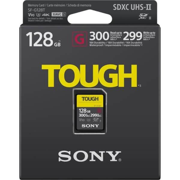 Sony G Tough Series SF G128T T1 SDXC 128GB UHS II U3 V90 R300 W299 2