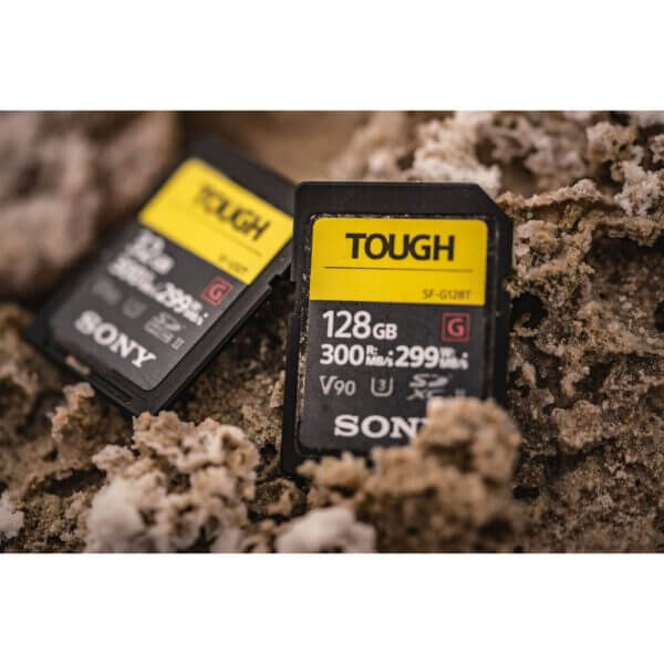 Sony G Tough Series SF G128T T1 SDXC 128GB UHS II U3 V90 R300 W299 4