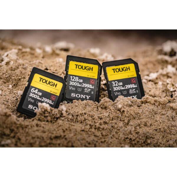 Sony G Tough Series SF G128T T1 SDXC 128GB UHS II U3 V90 R300 W299 9