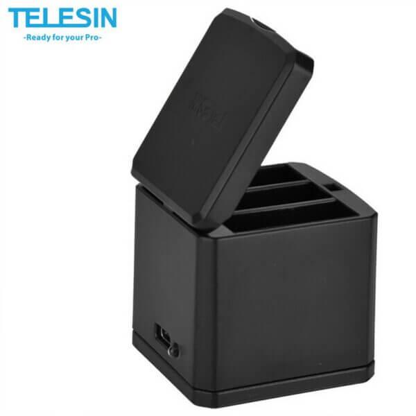 Telesin Tripple Slot Battery Charger for Gopro Hero5 Hero6 Hero7 2