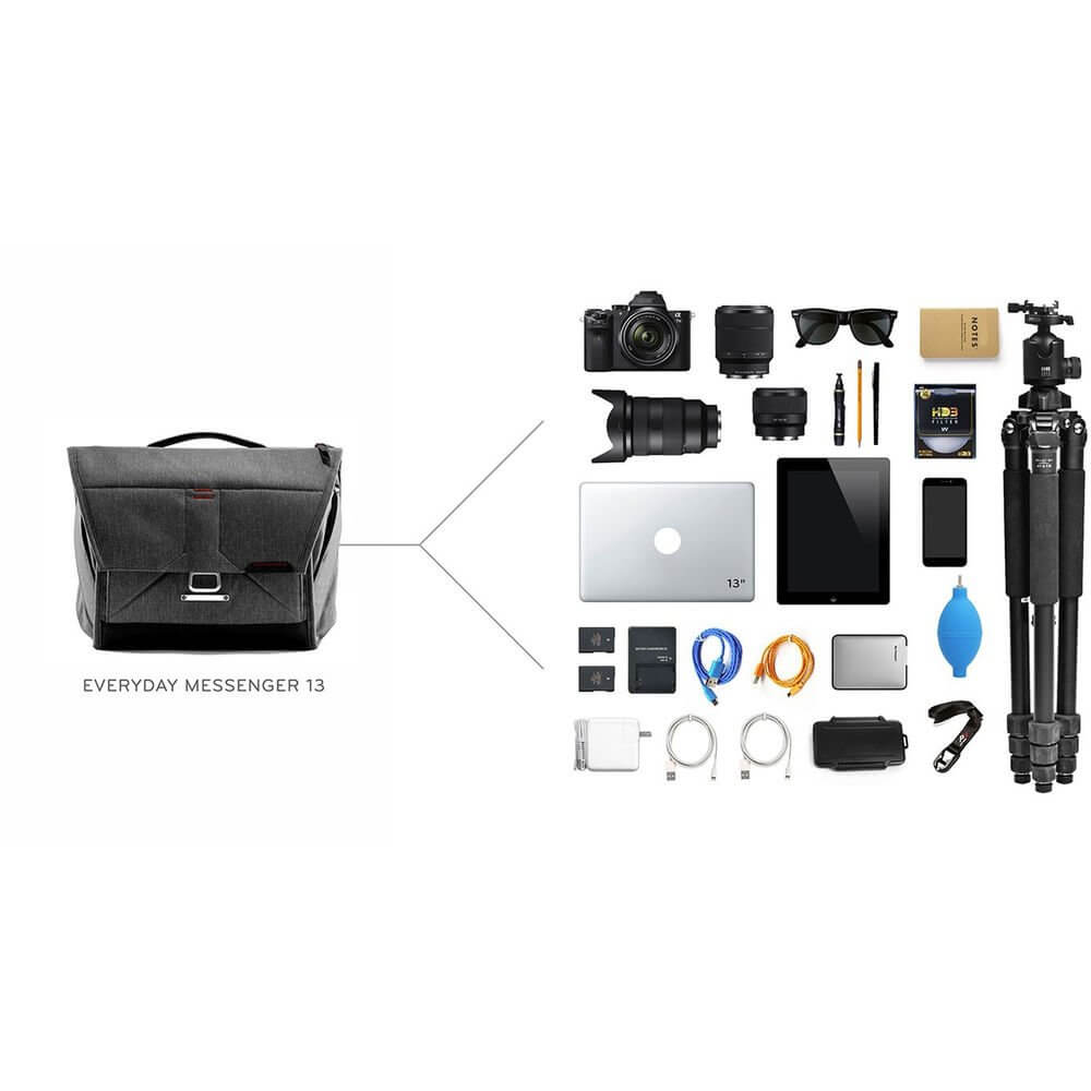 Peak Design BS 13 AS 2 Everyday Messenger Bag 13 Ver.2 Charcoal 9