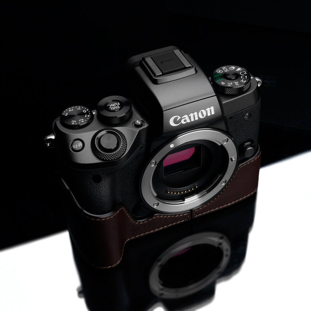 Gariz XS CHEOSRBR Half case for Canon EOS R Brown 1