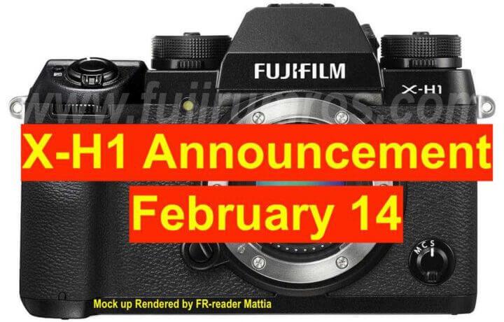 Fujifilm X H1 Announcement zoomcamera fujirumors