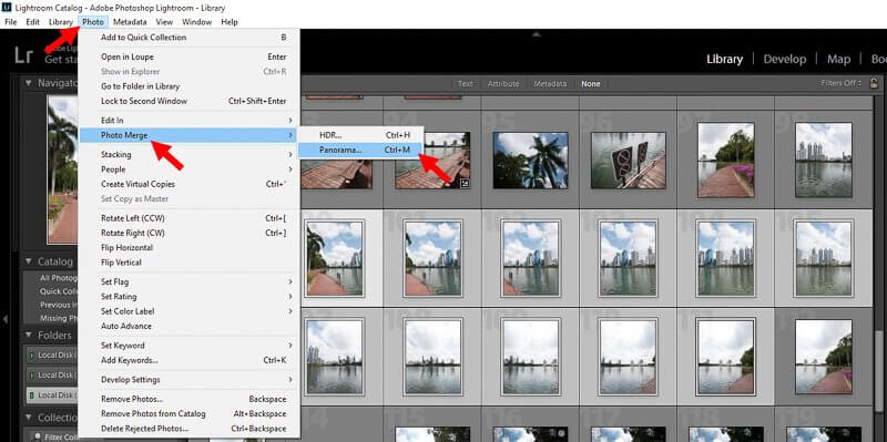 How to create Panorama in Lightroom screen 11