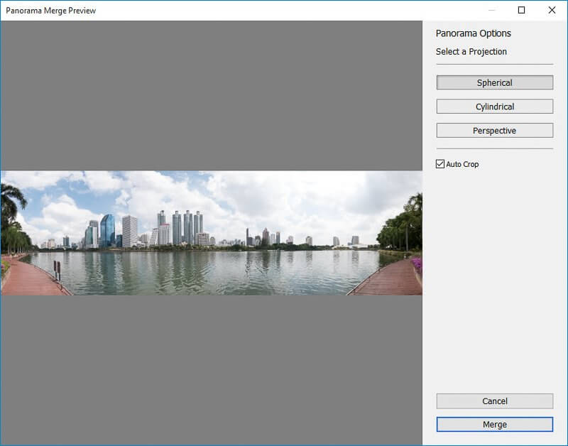 How to create Panorama in Lightroom screen 41