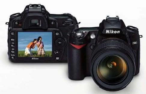 Nikon D90 fr bk