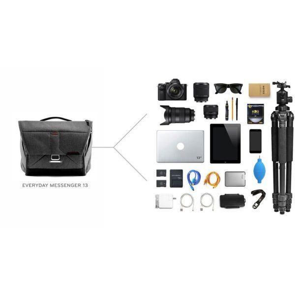 Peak Design BS 13 BL 2 Everyday Messenger Bag 1322 Ver.2 Charcoal9