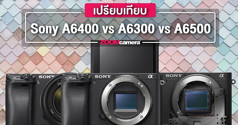 Preview compare sony a6400 a6300 a6500 content zoomcamera content