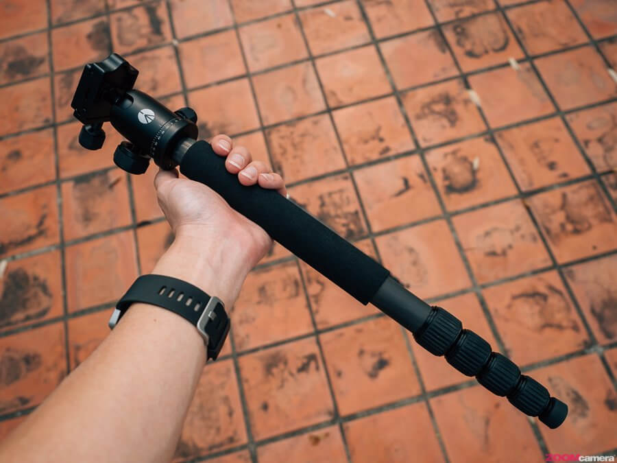 รีวิว Manfrotto Element Big Carbon ขาตั้งกล้องสูงท่วมหัวแต่ตัวเบา 1.4kg ถอด Monopod ได้ ราคาสวย