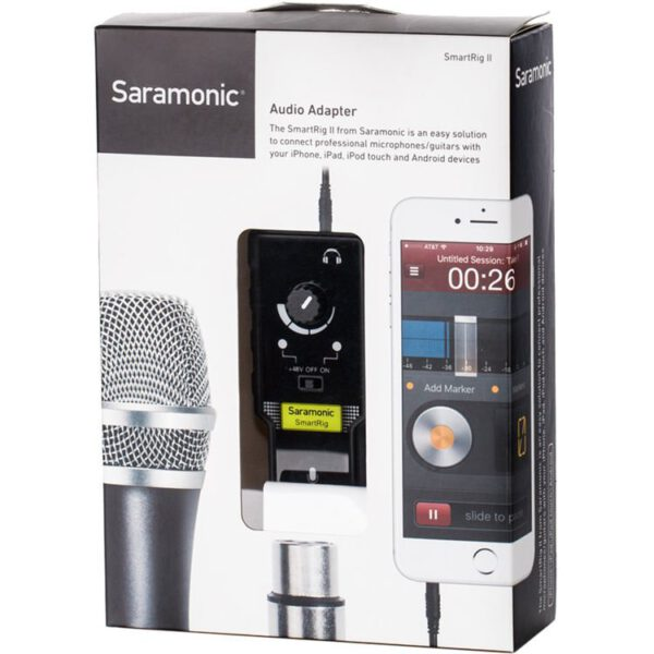 Saramonic SmartRig II Audio Adapter with Sound Level Control for mobile devices XLR6.35 input 5