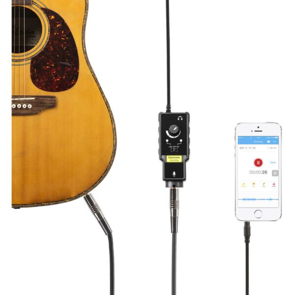 Saramonic SmartRig II Audio Adapter with Sound Level Control for mobile devices XLR6.35 input 6